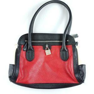 Chaps Ralph Lauren Faux Leather Satchel Purse Bag